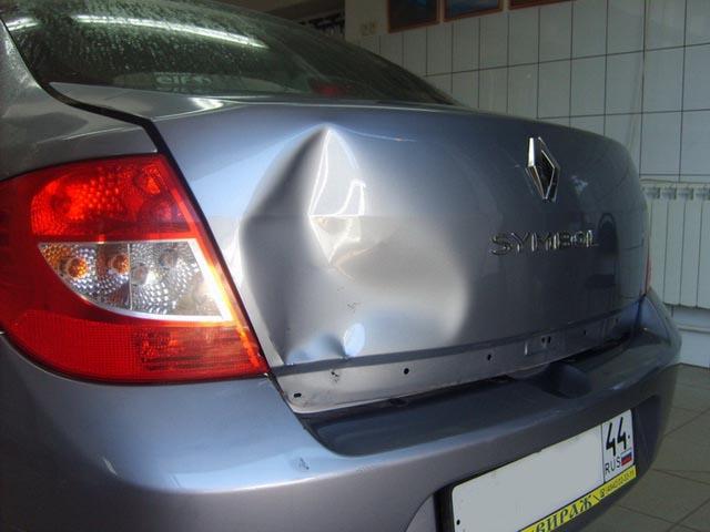 Ремонт крышки багажника Renault Symbol